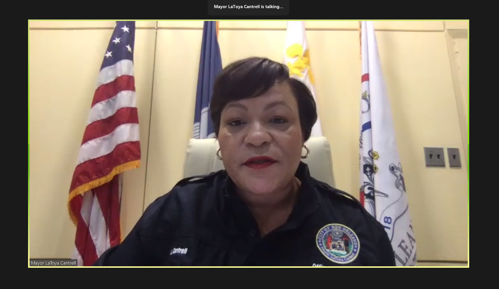 Mayor LaToya Cantrell at BGR Virtual Breakfast Briefing