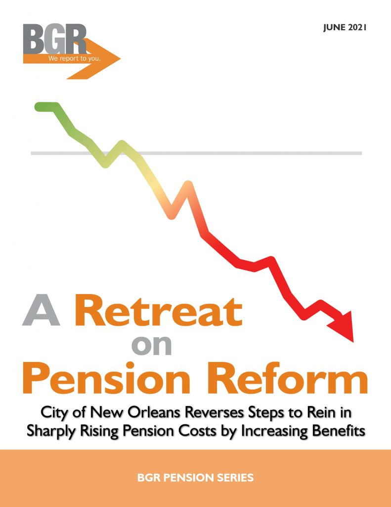 BGR report cover for A Retreat on Pension Reform